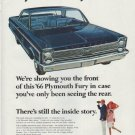 "1966 Plymouth Fury Ad ""We're showing you the front"""