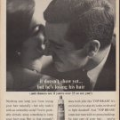 """1960 Top Brass Hair Dressing Ad """"it doesn't show yet"""""""