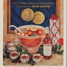 "1960 Old Crow Bourbon Ad ""125 holiday seasons"""