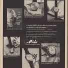 "1960 Mido Watch Ad ""If these tempt you"""