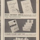 """1960 Nifty Ball Point Stationery Ad """"At Last"""""""