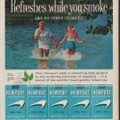"""1960 Newport Cigarettes Ad """"Refreshes while you smoke"""""""
