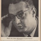 "1960 Better Vision Institute Ad ""the vision delinquent"""