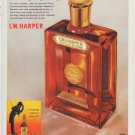 "1960 I. W. Harper Bourbon Ad ""Holiday-time"""