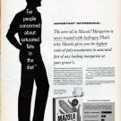"""1961 Mazola Margarine Ad """"Important Difference"""""""