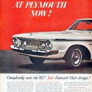 """1962 Plymouth Fury Ad """"Completely new for '62"""""""