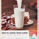 "1961 Carnation Milk Ad ""Lighter, Fresh Flavor"""