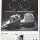 """1961 Norelco Ad """"this stroke"""""""