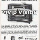 "1961 Philco Ad ""Vivid Vision"""