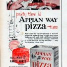 "1961 Appian Way Pizza Ad ""party time"""