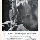 """1961 King Sano Cigarette Ad """"America's purest tobacco taste"""""""