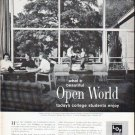 """1961 Libby * Owens * Ford Glass Ad """"Open World"""""""