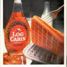 "1961 Log Cabin Syrup Ad ""The best thing about waffles"""