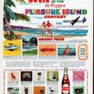 """1961 Dr Pepper Ad """"Pleasure Island Contest"""""""