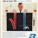"""1961 Enjay Chemical Company Ad """"safest ride of your life"""""""