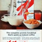 "1961 Kellogg's Special K Ad ""The complete protein breakfast"""