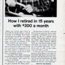 "1962 Phoenix Mutual Life Insurance Ad ""retired in 15 years"""