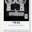 """1962 Webcor Tape Recorder Ad """"it's the real thing"""""""