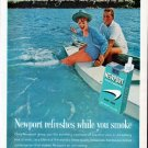 "1962 Newport Cigarettes Ad ""Newport refreshes"""