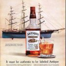 "1962 Antique Bourbon Ad ""American Masterpiece"""