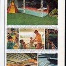 "1962 Flexalum Awning Ad ""most popular summer resort"""