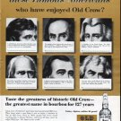 "1962 Old Crow Whiskey Ad ""Famous Americans"""