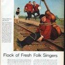 "1962 Folk Singers Article ""Flock of Fresh Folk Singers"""