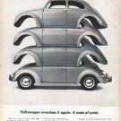 """1961 Volkswagen Ad """"Volkswagen overdoes it"""""""