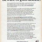 """1961 Warner-Lambert Pharmaceutical Company Ad """"gum disease"""""""