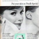 """1961 Pond's Skin Cream Ad """"Special Formula Care"""""""