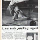 """1961 Jockey Briefs Ad """"A man needs Jockey support"""""""
