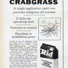 """1961 Swift's Rid Ad """"Prevents Crabgrass"""""""