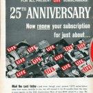 "1961 LIFE Magazine Ad ""25th Anniversary"""