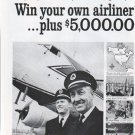 "1961 Champion Spark Plug Ad ""Win your own airliner"""