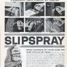"1961 Du Pont Slipspray Ad ""Stainless Dry Lubricant"""
