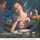 "1961 The United States Brewers Association Ad ""beer by candlelight"""