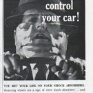 """1961 Monro-Matic Ad """"you can't control your car"""""""