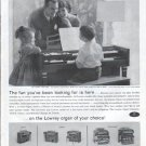 """1961 Lowrey Organ Ad """"The fun you've been looking for"""""""