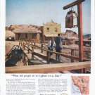 """1961 Ethyl Corporation Ad """"ghost town"""""""