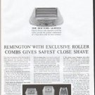 """1961 Remington Shaver Ad """"Roller Combs"""""""