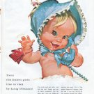 "1961 Bell Telephone System Ad ""Even the littlest girls"""