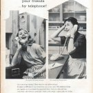 "1961 Bell Telephone System Ad ""Live next door"""