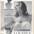 "1961 Lovable Brassiere Ad ""sudden comfort"""