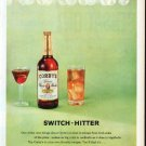 "1961 Corby's Whiskey Ad ""Switch-Hitter"""