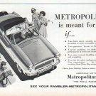"""1961 American Motors Ad """"Metropolitan"""""""