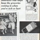 "1961 Allstate Insurance Ad ""keep the groceries coming in"""