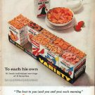 "1961 Kellogg's Cereal Ad ""To each his own"""
