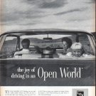 "1961 Libby Owens Ford Glass Ad ""Open World"""