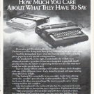 "1979 Olivetti Typewriter Ad ""Show Someone"""