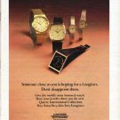 """1979 Longines-Wittnauer Watch Company Ad """"Someone close to you"""""""